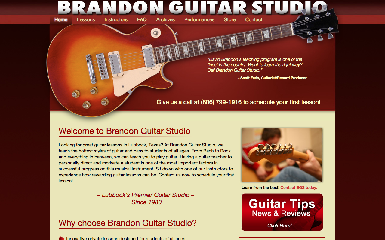 Brandon Guitar Studio - FarisWheel Productions